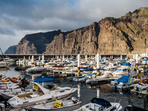 Los Gigantes harbor Royalty Free Stock Images