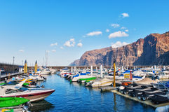 Los Gigantes harbour Stock Photos