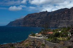 Los Gigantes, a popular holiday destination, Tenerife, in the Spanish Canary Islands Stock Photos