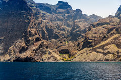 Los Gigantes Rocks stock photography