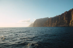 Los gigantes sea view. A view of the famous los gigantes cliffs, tenerife, from aboard a ship Royalty Free Stock Photo