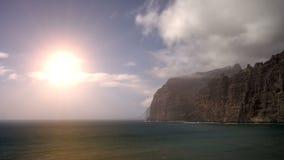 Los Gigantes sunset. Sunset near Los Gigantes in Tenerife Island stock video footage