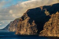 Los Gigantes during Sunset-Tenerife,Spain Royalty Free Stock Image