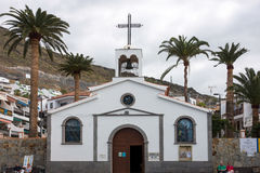 LOS GIGANTES, TENERIFE/SPAIN - JANUARY 22, 2015 : Church of the. Holy Sprit in Los Gigantes Tenerife Spain on January 22, 2015. Unidentified people Royalty Free Stock Photography