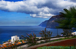 Los Gigantes View. A view of Los Gigantes from a hill side on the west coast of Tenerife royalty free stock photo