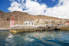 Los Gigantes Yatch marina in Tenerife, Canary islands, Spain. Royalty Free Stock Images