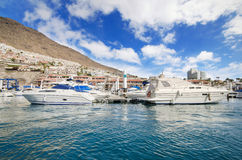 Los Gigantes Yatch marina in Tenerife, Canary islands, Spain. Stock Images