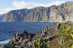 Los Gigantos. The coast of Los Gigantos - Tenerife - Spain Royalty Free Stock Images