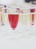 Los Gläser mit Champagner Lizenzfreies Stockbild
