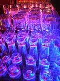 Los Gläser sind Blitz Stockbilder