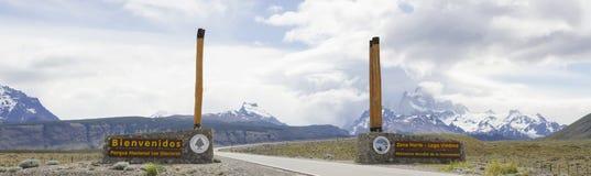 Los Glaciares国家公园入口 免版税库存照片