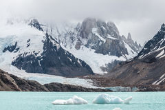 Los Glaciares National Park in Argentina. Winter in Los Glaciares National Park, Cerro Torre mountain in clouds, Patagonia, Argentina, South America Stock Photo