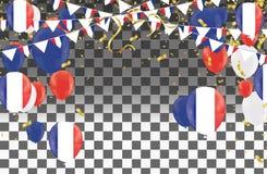 Los globos con las banderas de países de las banderas nacionales de Francia combinan grou libre illustration