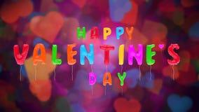 Los globos de la tarjeta del día de San Valentín multicolora en BG abstracta