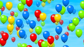 Los globos del partido generaron el vídeo inconsútil del lazo libre illustration
