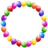 Los globos enmarcan la circular stock de ilustración