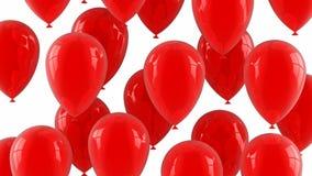 Los globos rojos vuelan para arriba stock de ilustración