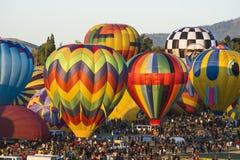 Los globos se cierran para arriba foto de archivo libre de regalías