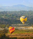 Los globos toman el vuelo, Del Mar, California foto de archivo