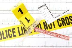 Los gráficos de la DNA analizan de laboratorio forense Foto de archivo libre de regalías