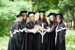 Los graduados del soltero celebran Fotografía de archivo
