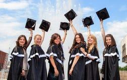 Los graduados del soltero celebran Fotos de archivo