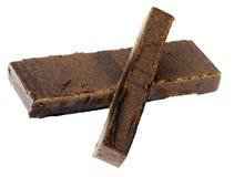 Dedo aislado del hachís - 10 y 20 gramos Foto de archivo libre de regalías