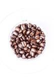 Los granos de café asados pueden ser utilizados como fondo Imagen de archivo libre de regalías