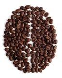 Los granos de café hacen el grano de café imagenes de archivo
