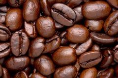Los granos de café se cierran para arriba Foto de archivo