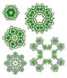 Los granos de cristal diseñan elementos Foto de archivo