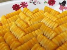 Los granos del maíz Imágenes de archivo libres de regalías