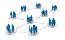 Los grupos conectan Imagenes de archivo