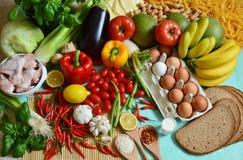 Los 5 grupos de alimentos Foto de archivo libre de regalías