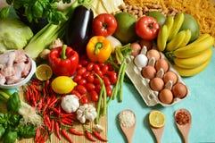 Los 5 grupos de alimentos Imagen de archivo libre de regalías