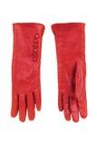 Los guantes de las mujeres rojas Imágenes de archivo libres de regalías