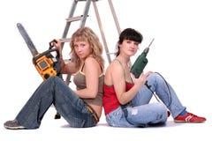 Los guardas de la reparación Fotografía de archivo