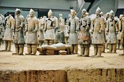 Los guerreros de la arcilla Imagen de archivo libre de regalías