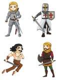 Los guerreros de la diversa cultura fijaron 4 (el vector) Imagenes de archivo