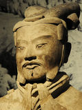 Los guerreros de la terracota del Qin del emperador foto de archivo