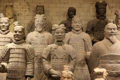 Los guerreros famosos de la terracota imagenes de archivo