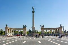 Los héroes ajustan en Budapest, Hungría fotos de archivo libres de regalías