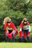 Los héroes estupendos team a muchachas Imágenes de archivo libres de regalías