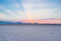 Los haces del sol del último Imagenes de archivo