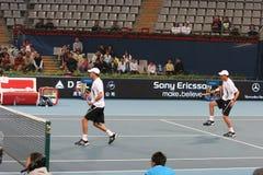 Los hermanos de Bryan en el semifinal de la China se abren Imagenes de archivo