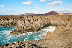 Beautiful landscape of Lanzarote Island Stock Photography