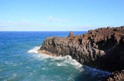Los Hervideros (Boiling Waters), Lanzarote, Canary Islands. Royalty Free Stock Image
