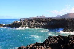 Los Hervideros (Boiling Waters), Lanzarote, Canary Islands. Royalty Free Stock Photo