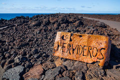 Los Hervideros. Stock Photo