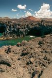 Los Hervideros, Lanzarote royalty-vrije stock fotografie